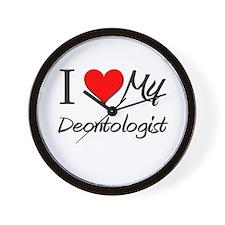 I Heart My Deontologist Wall Clock