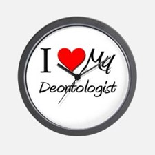 I Heart My Deontologist Wall Clock