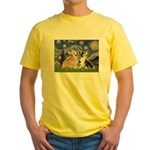Starry Night / Corgi pair Yellow T-Shirt