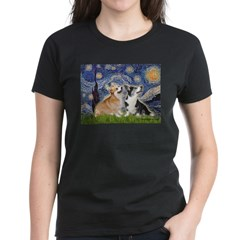 Starry Night / Corgi pair Tee