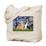 Starry Night / Corgi pair Tote Bag