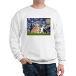 Starry Night / Corgi pair Sweatshirt