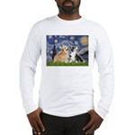 Starry Night / Corgi pair Long Sleeve T-Shirt
