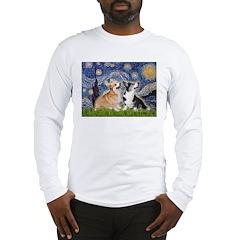 Starry Night / Corgi pair Long Sleeve T-Shirt