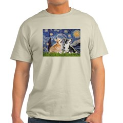 Starry Night / Corgi pair T-Shirt