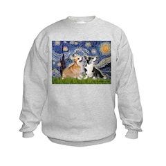 Starry Night / Corgi pair Sweatshirt