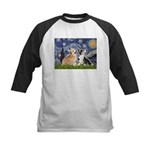 Starry Night / Corgi pair Kids Baseball Jersey