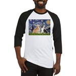 Starry Night / Corgi pair Baseball Jersey