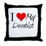 I Heart My Dentist Throw Pillow