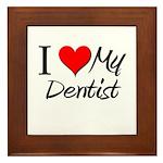 I Heart My Dentist Framed Tile