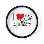 I Heart My Dentist Wall Clock