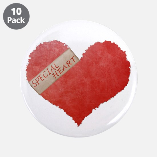 "SPECIAL HEART 3.5"" Button (10 pack)"