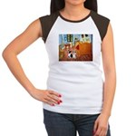 Room / Corgi pair Women's Cap Sleeve T-Shirt