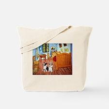 Room / Corgi pair Tote Bag