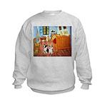 Room / Corgi pair Kids Sweatshirt