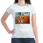 Room / Corgi pair Jr. Ringer T-Shirt