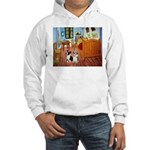 Room / Corgi pair Hooded Sweatshirt