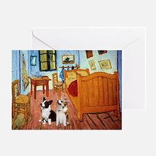 Room / Corgi pair Greeting Card