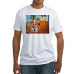 Room / Corgi pair Fitted T-Shirt