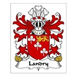 Landry Family Crest Small Poster
