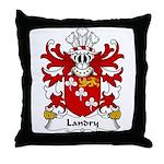 Landry Family Crest Throw Pillow