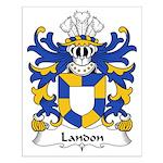 Landon Family Crest Small Poster