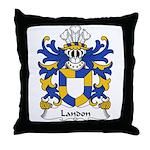 Landon Family Crest Throw Pillow