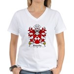 Knowles Family Crest Women's V-Neck T-Shirt