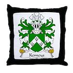 Kemeys Family Crest Throw Pillow
