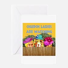 Church Ladies Greeting Card