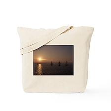 3 Ship Sunset Tote Bag