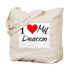 I Heart My Deacon Tote Bag