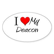 I Heart My Deacon Oval Decal
