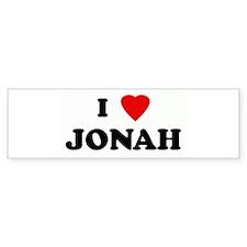 I Love JONAH Bumper Bumper Sticker