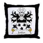 Jenkes Family Crest Throw Pillow