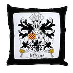 Jeffreys Family Crest Throw Pillow