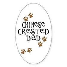 Chinese Crested Dad Oval Decal