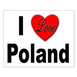 I Love Poland Small Poster