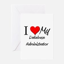 I Heart My Dactylographist Greeting Cards (Pk of 1