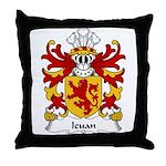 Ieuan Family Crest Throw Pillow