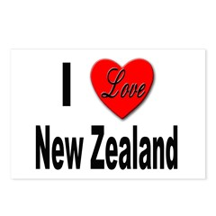 I Love New Zealand Postcards (Package of 8)