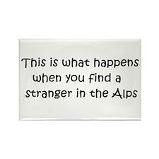 Stranger in the Alps Rectangle Magnet