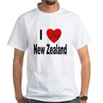 I Love New Zealand (Front) White T-Shirt