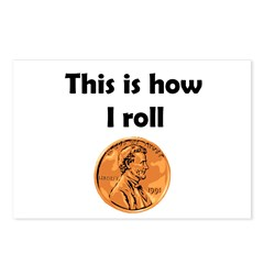 HOW I ROLL Postcards (Package of 8)