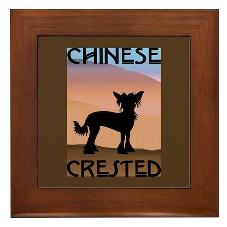 Craftsman Chinese Crested Framed Tile