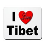 I Love Tibet Mousepad