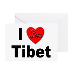 I Love Tibet Greeting Cards (Pk of 10)
