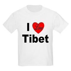 I Love Tibet Kids T-Shirt
