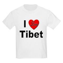I Love Tibet Kids T-Shirt