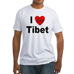 I Love Tibet (Front) Fitted T-Shirt